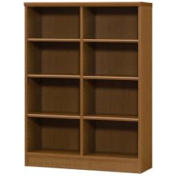 色とサイズが選べるオープン本棚 幅86.5cm高さ117cm (ウ)ブラウン