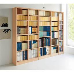 色とサイズが選べるオープン本棚 幅59.5cm高さ178cm 使用イメージ(ア)ライトナチュラル