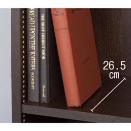 1cmピッチ薄型壁面書棚 奥行28cm 幅42cm 高さ180cm オープン 奥行28、29.5cmの深型は雑誌や辞書の収納に。