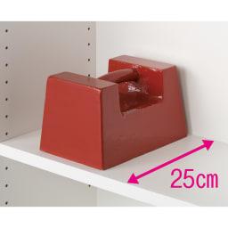 モダンブックライブラリー デスクタイプ 幅80cm 重い物も載せられる頑丈棚板。(※写真はイメージ)