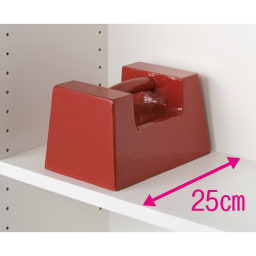 モダンブックライブラリー キャビネットタイプ 幅60cm 重い物も載せられる頑丈棚板。(※写真はイメージ)