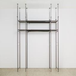 頑丈フレキシブル伸縮ラック 幅103~160cm 幅は無段階調節でき、ぴったり設置可能。幅外寸:103~160cm