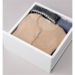 ウォークインクローゼット収納シリーズ 引き出し&棚タイプ 幅30cm・奥行55cm 引き出しは、たたむ衣類の収納に。