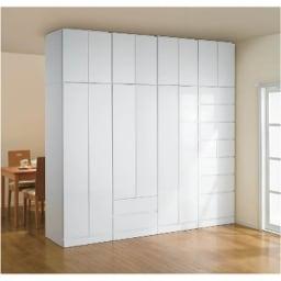 壁面間仕切りワードローブ ブレザー・幅80cm (イ)色見本 ※写真は幅60cmタイプのレイアウト例です。