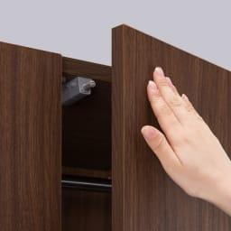 壁面間仕切りワードローブ 幅60cm用「オーダー上置き」・高さ26~90cm(1cm単位オーダー) プッシュラッチ式でスムーズに開け閉めできます。