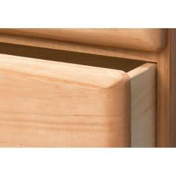 柿渋仕上げの総桐モダンチェスト 幅90cm・4段 重厚でボリューム感のある前板。