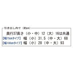 【日本製】北欧風総桐チェスト 幅100cm・5段(7杯) 引き出し内寸