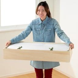 総桐衣装ケース 幅91cmタイプ 4段(深4)・奥行41.5cm 女性でもラクに持ち運べます。※一段ずつ持ち上げてください。