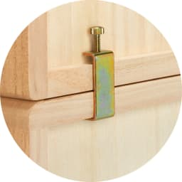 自分仕様に造れる 総桐ユニット箪笥 着物収納箪笥3段 上下に重ねる場合は連結金具で裏からしっかりと固定できます。