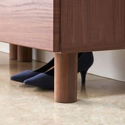 マスクをしまえる引き出し付き シューズボックス 幅80cm 高さ91cm 普段よく履く靴は下のスペースへ。脱いだばかりの靴を一時置きして乾かしてから、靴箱内に収納できます。