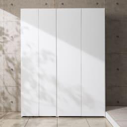 エントランス納戸シューズボックス 棚のみ 幅80cm コーディネート例(イ)ホワイト