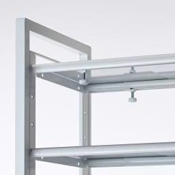 玄関の段差対応伸縮シューズラック 5段 つまみで簡単に伸縮できます。