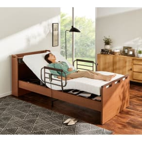 【非課税対象商品】照明付き電動リクライニングベッド 写真