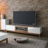 光沢が美しい 北欧風ナチュラルモダン リビング収納シリーズ  テレビ台 幅180cm 写真