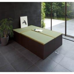 ユニット畳シリーズ お得なセット 3畳セット 幅120奥行180cm 高さ45cm お得な3畳セット(1畳×3) (ア)ダークブラウン