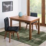 ナチュラルモダン天然木伸長式ダイニング ウォルナット 伸長式テーブル 幅110・150cm 写真