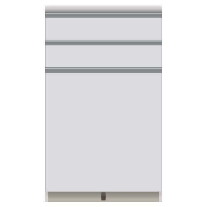 家電が使いやすいハイカウンター奥行45cm キッチンカウンター高さ101cm幅60cm/パモウナVQ-S600K 下台 お届けの商品はこちらになります。