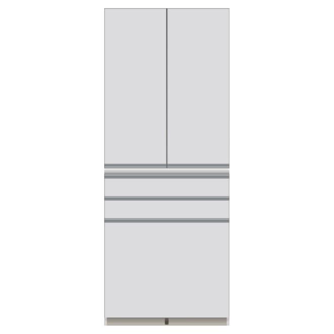 家電が使いやすいハイカウンター奥行50cm 食器棚高さ203cm幅80cm/パモウナDQ-800K お届けの商品はこちらになります。