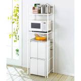 ゴミ箱の上もキッチン収納 幅伸縮キッチンラック 棚2段 幅47.5~70cm 写真