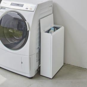 キッチン奥にも置ける 奥行スリムダストボックス 小タイプ(幅38cm・奥行18cm・高さ56cm) 写真
