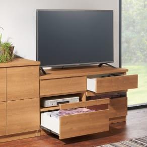 天然木調テレビ台シリーズ ハイタイプテレビ台 幅120.5高さ60cm 写真