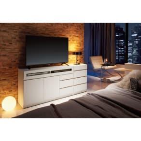 【完成品・国産家具】ベッドルームで大画面シアターシリーズ チェスト 幅45高さ70cm 写真