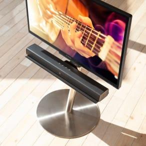 スマートテレビスタンド ハイタイプ対応サウンドバー棚板 幅60cm 写真