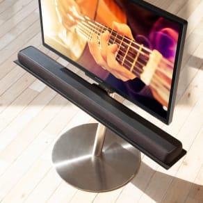 スマートテレビスタンド ハイタイプ対応サウンドバー棚板 幅95cm 写真