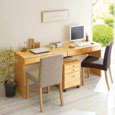 パイン天然木 薄型シンプルデスクシリーズ デスク 幅180cm 写真