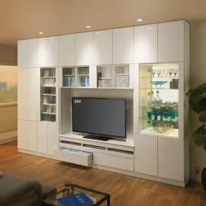 美しくしまうハイクラス壁面収納シリーズ テレビ台 幅121cm 写真