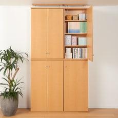 天井対応高さを選べるすっきり突っ張り書棚 奥行22cm・1列棚タイプ 本体高さ230cm(天井対応高さ233~243cm)
