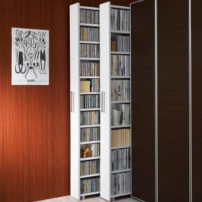 1cmピッチ スライド式すき間収納ワゴン単体 幅16cm (DVD収納&コミック・漫画本収納用) 写真