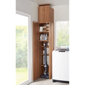 日用品もしまえる頑丈段違い書棚 ヴィンテージ木目調タイプ 上置き 幅40cm 写真