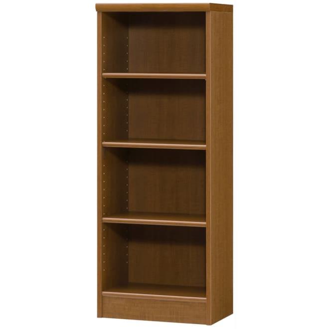 色とサイズが選べるオープン本棚 幅44.5cm高さ117cm (ウ)ブラウン