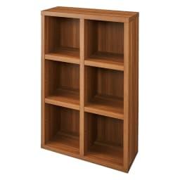 【完成品】重厚感のあるがっちり本棚シリーズ シェルフ 幅75高さ114奥行30cm (ア)ダークブラウン