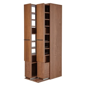 本格派 スライド収納書棚 書棚 2列・幅55cm 写真