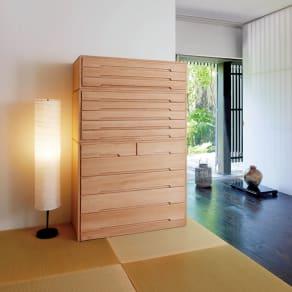 自分仕様に造れる 総桐ユニット箪笥 衣類収納箪笥5段 写真