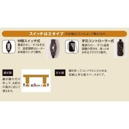 【だ円形】135×90cm ナラ天然木折れ脚まぁるいこたつ オーバル形 機能満載。詳細はこちらをご覧ください。
