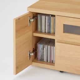 お掃除がしやすい天然木調コーナーテレビ台・テレビボード 幅120cm CD・DVDもたっぷり収納