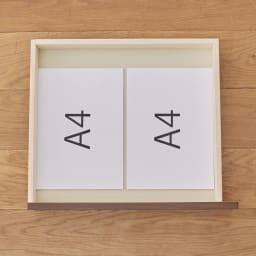 奥行選べるデスクシリーズ デスク 幅150cm・奥行50cm ■引き出し内寸(3杯付き):幅42.5奥行37.5高さ5.5cm