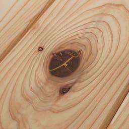 播磨の国からの贈り物 国産杉 頑丈ディスプレイ本棚 オープンタイプ 幅60cm高さ89cm 【自然の表情】天然杉のフシを活かして、ナチュラルな表情に仕上げました。