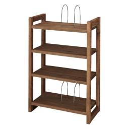 播磨の国からの贈り物 国産杉 頑丈ディスプレイ本棚 オープンタイプ 幅60cm高さ89cm 【幅60cmタイプ】(イ)ダークブラウン ※ブックエンド使用時は棚板用穴を5ヵ所以上あけてください。
