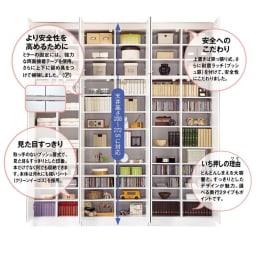 壁面書棚リフォームユニット 本体 幅80奥行44高さ180cm 【POINT】大量収納と確かな機能