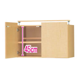 日用品もしまえる頑丈段違い書棚上置き(幅60cm) (イ)ナチュラル ※赤文字は内寸(単位:cm) ※写真は上置き・幅80cmタイプです。