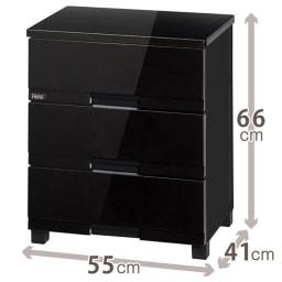 Fits フィッツプラスプレミアム 幅55cm 3段[FP5503 テンマ] (イ)オールブラック