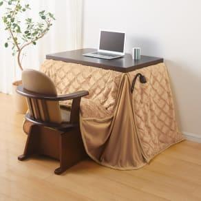 【長方形・小】幅90奥行60cm ダイニングこたつテーブル【高さ調節できます】 写真