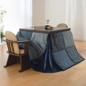 【正方形】幅80cm奥行80cmダイニングこたつテーブル【高さ調節できます】 写真