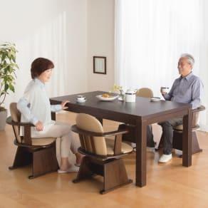 【長方形・大】幅150cm奥行90cm ダイニングこたつテーブル【高さ調節できます】 写真