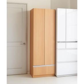 食器もストックもたっぷり収納!天井ぴったりキッチンシリーズ 食器棚 幅60cm奥行45cm 写真