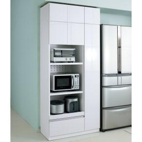 家電も食器もたっぷり収納!天井ぴったりキッチンシリーズ マルチボード 幅90cm奥行45cm 写真